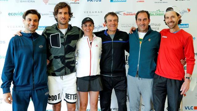Ferrer se estrena en Valencia como veterano en un torneo con Wilander