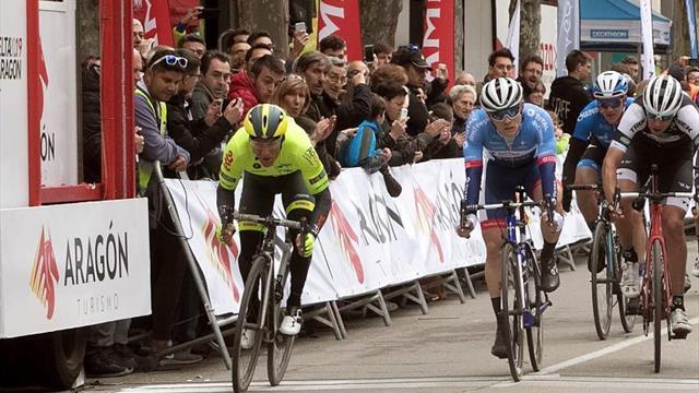 Justin Jules gana en Calatayud y es el primer líder de la Vuelta Aragón