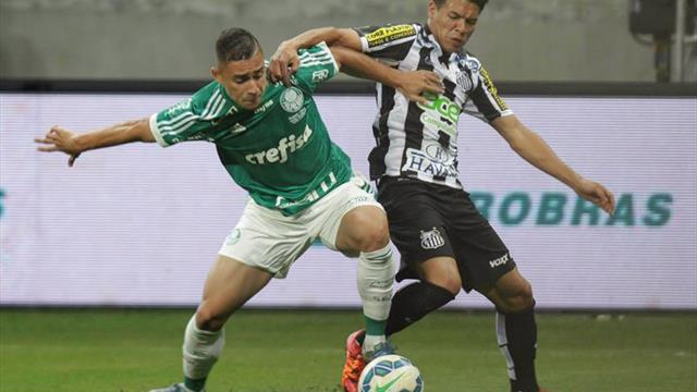 Palmeiras-Santos o Scolari-Sampaoli se enfrentan por el liderato en Brasil