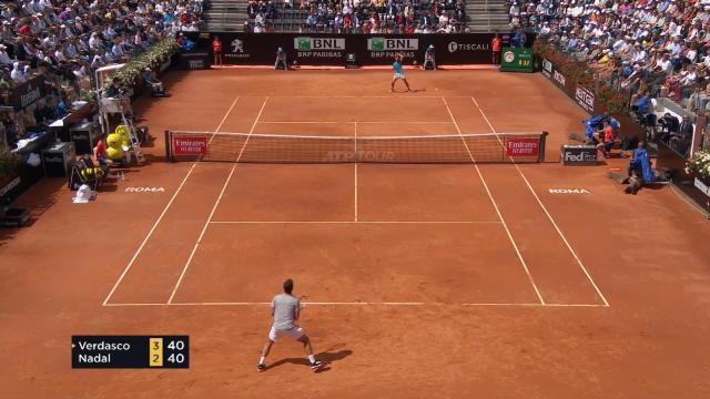Rome - Nadal continue sa balade contre Verdasco