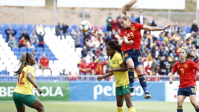 🇪🇸⚽ España golea a Camerún en el primer amistoso antes del Mundial femenino (4-0)