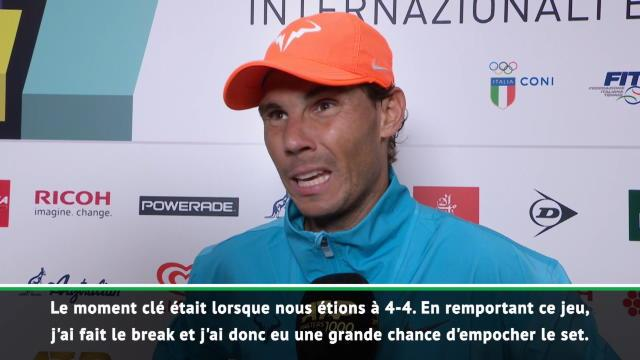 """Rome - Nadal : """"Le premier set a été très difficile"""""""