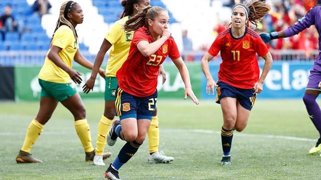 España golea a Camerún en el primer amistoso antes del Mundial femenino (4-0)