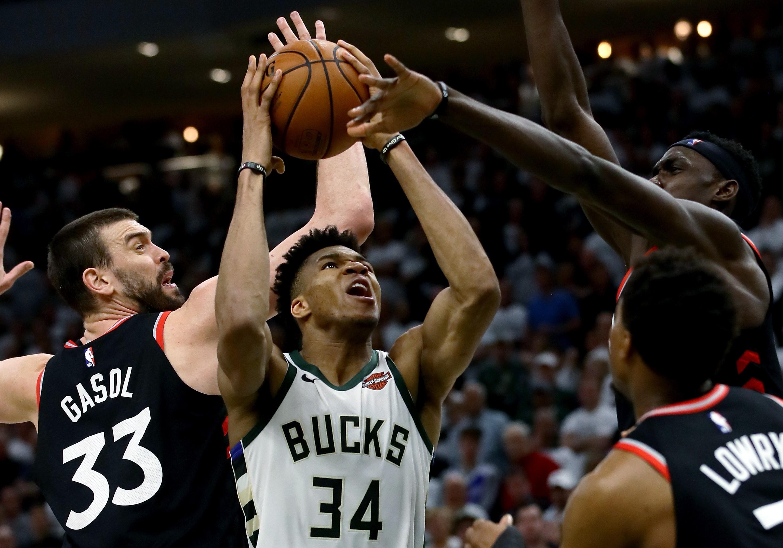 Marc Gasol (Toronto Raptors), Giannis Antetokounmpo (Milwaukee Bucks)