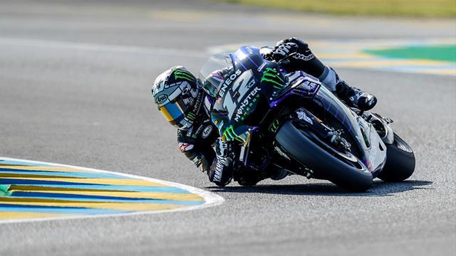 Marc Marquez obtient la pole et chute — MotoGP