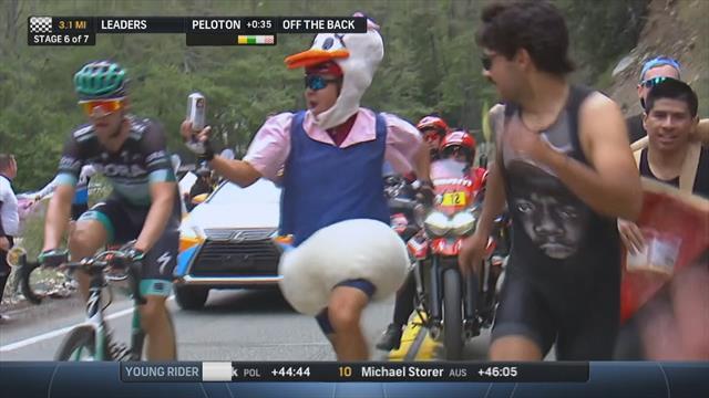 Crowd go wild in bizarre scenes at Tour of California