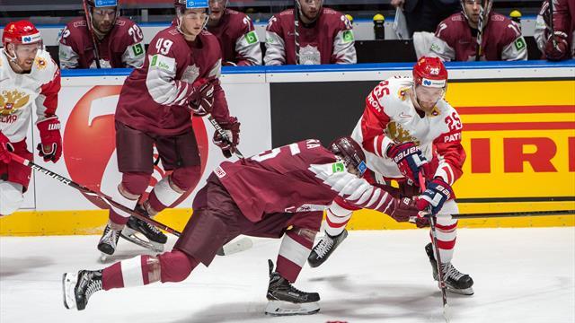 Россия пропустила первой, но обыграла Латвию