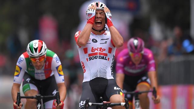 Giro de Italia 2019 (8ª etapa): Caleb Ewan despega para sorprender a Ackermann y Viviani