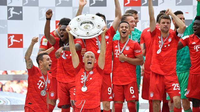 Il Bayern Monaco è campione di Germania: 5-1 all'Eintracht Francoforte con gol di Ribéry e Robben