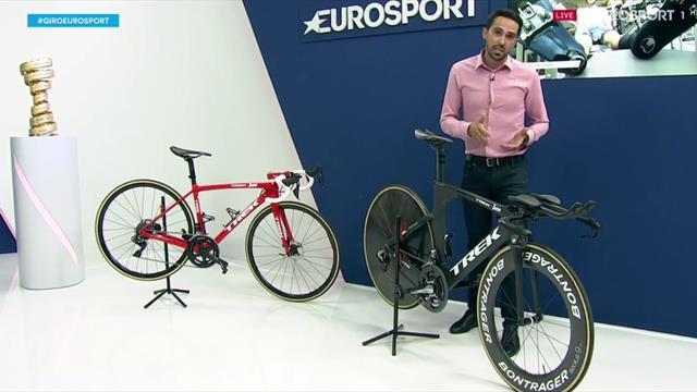 Contador explica al detalle las diferencias entre una bici de carretera y una de contrarreloj