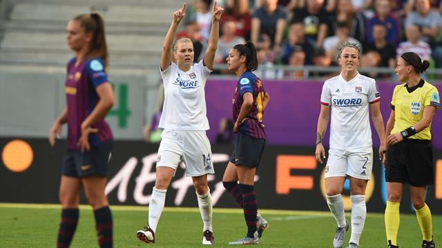 Final Champions femenina, Lyon-Barcelona: La cruel realidad (4-1)