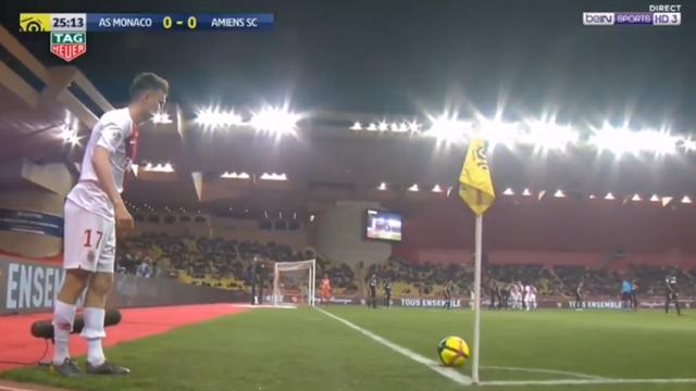 Классная подача Головина, неплохой удар Фалькао и ужасная ошибка вратаря – вот и гол «Монако»