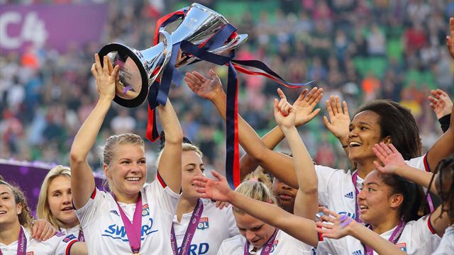 Hegerberg hat-trick as Lyon seal fourth straight Champions League