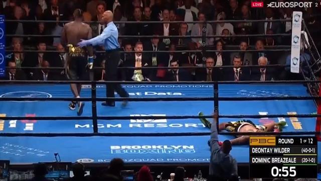 El espeluznante KO en el primer asalto de Wilder a Breazeale en el títulos de los Pesados