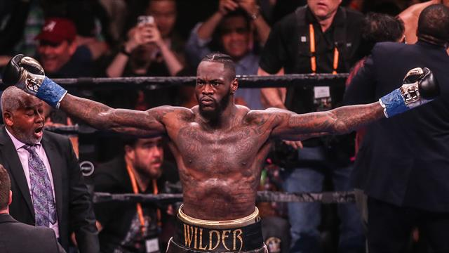 Deontay Wilder targets Anthony Joshua after knockout win over Dominic Breazeale