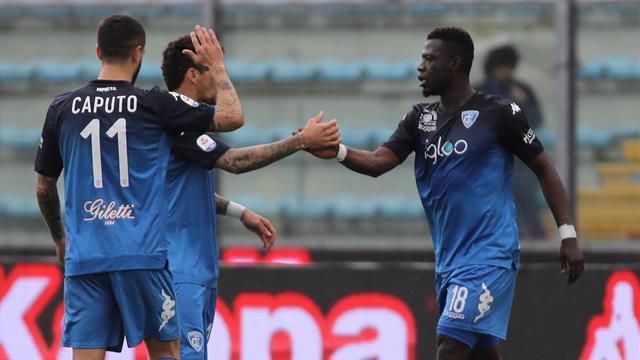 La furia Empoli travolge il Torino: 4-1 al Castellani con Acquah, Brighi, Di Lorenzo e Caputo
