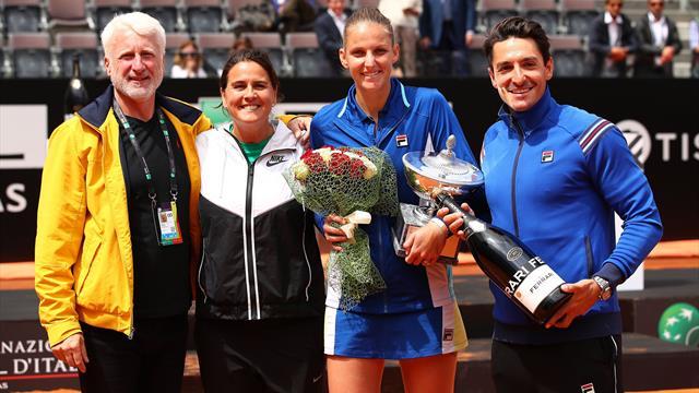Pliskova defeats Konta to lift Italian Open