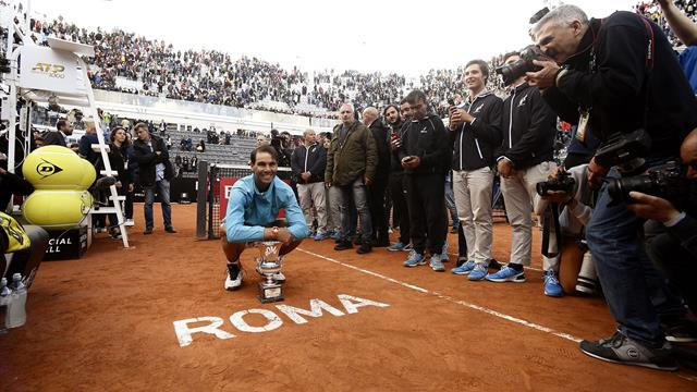 Nadal bagels Djokovic as he clinches Rome Masters title