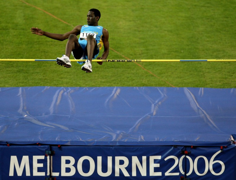 Donald Thomas à Melbourne en 2006, sa toute première compétition internationale.