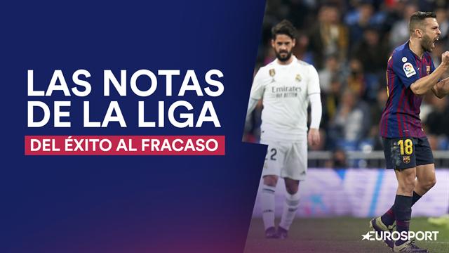 Las notas de LaLiga: Del suspenso del Madrid al sobresaliente del Barça