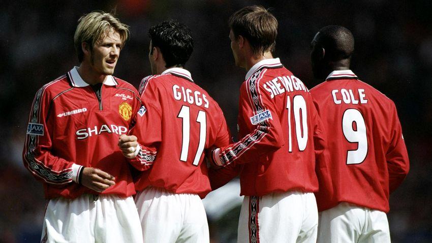 Дэвид Бекхэм и партнеры по «Манчестер Юнайтед», 1999-й год