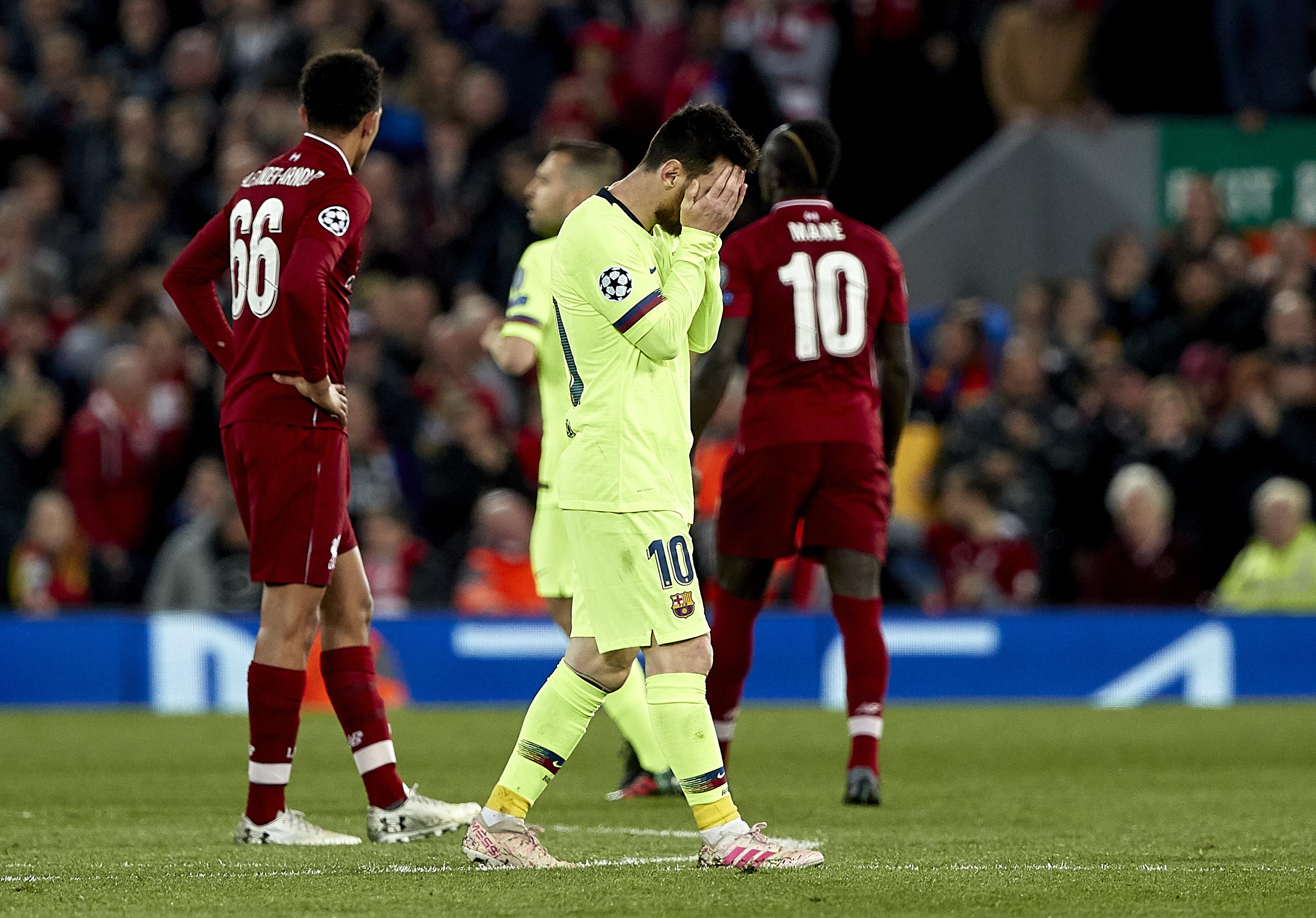 Lionel Messi à Liverpool
