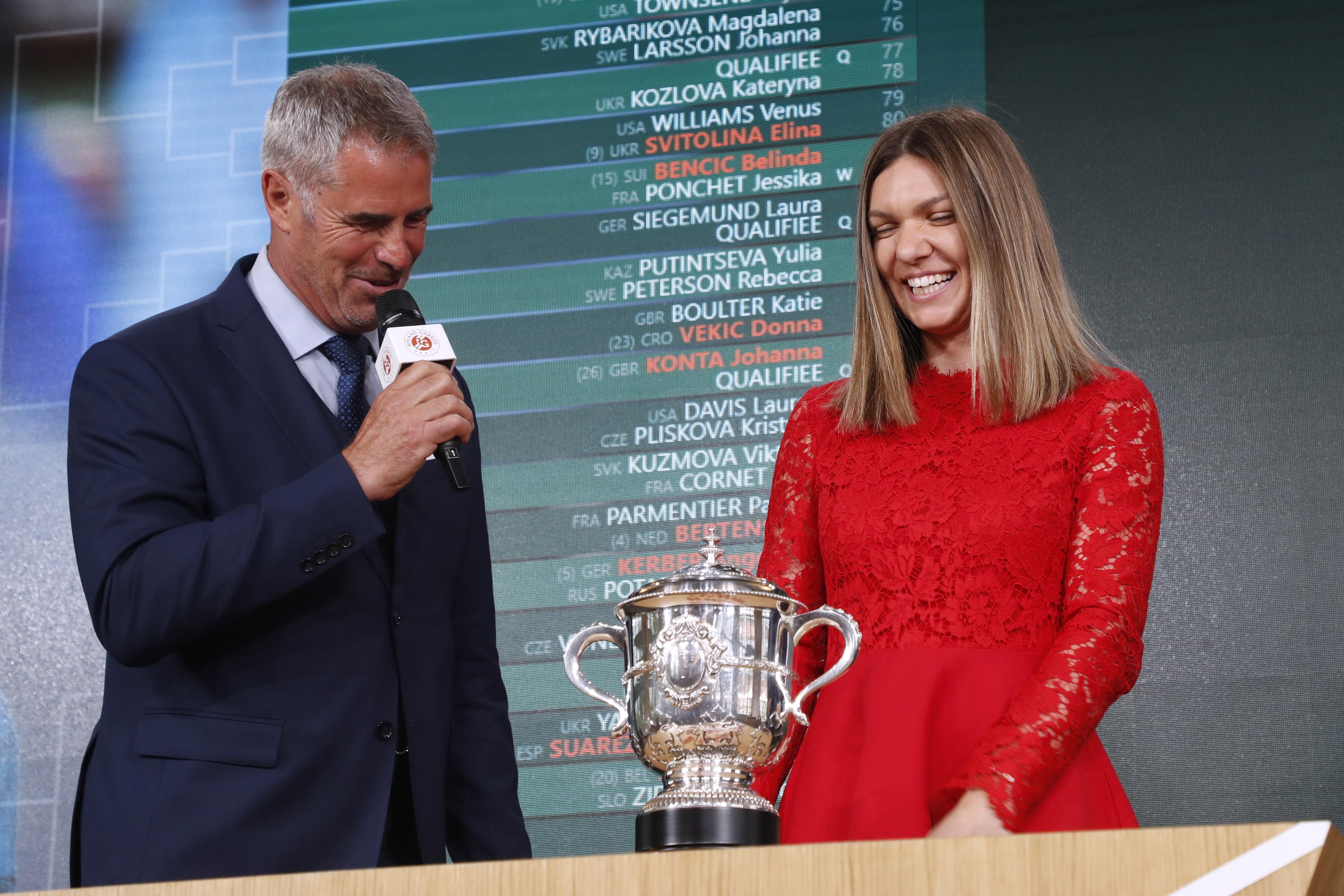 Simona Halep lors du tirage au sort 2019
