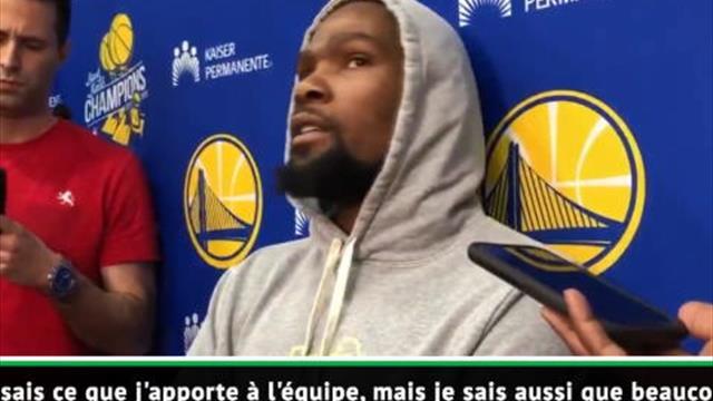 NBA - Durant refuse de penser que les Warriors soient meilleurs sans lui