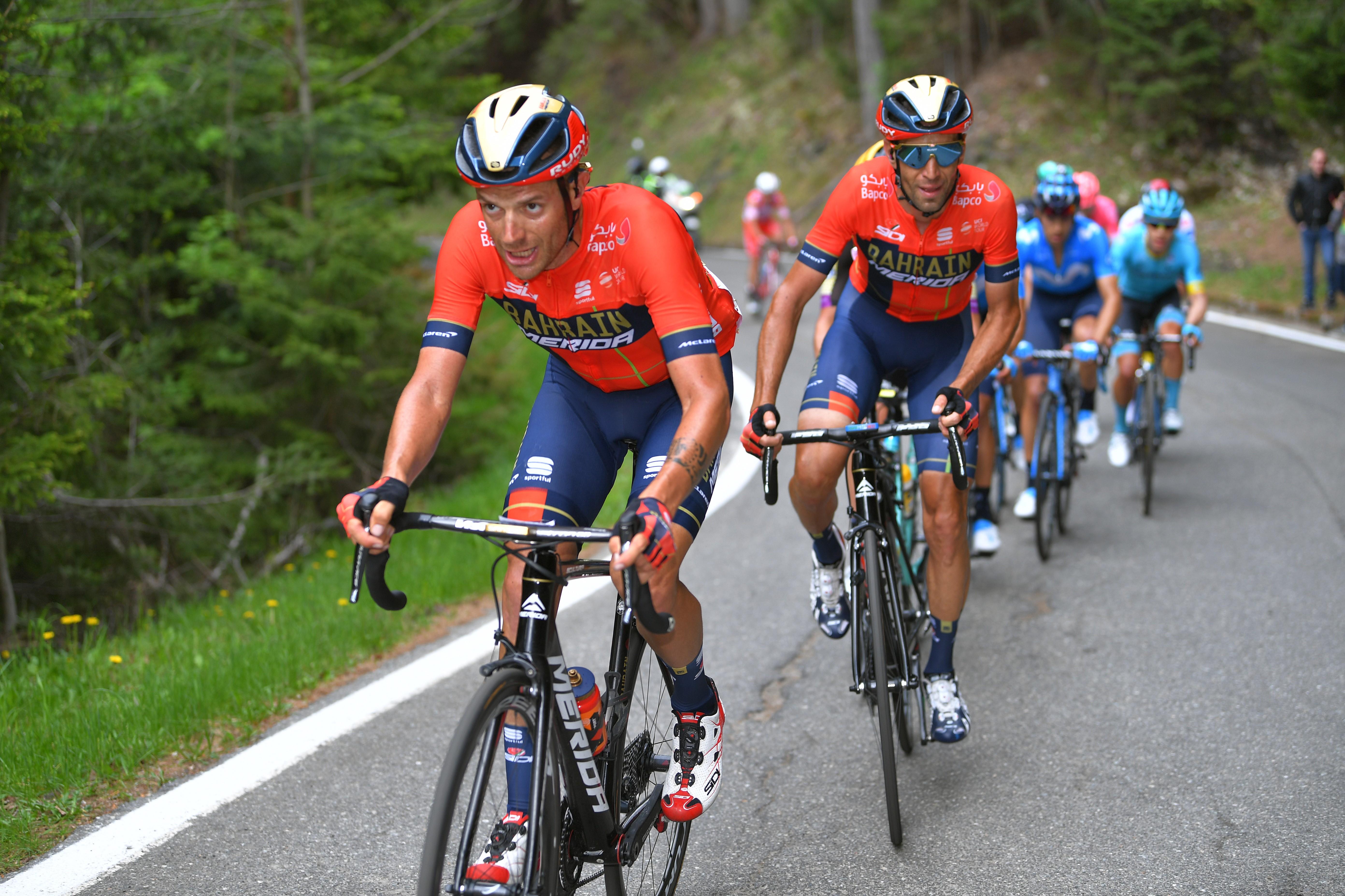 Vincenzo Nibali et Damiano Caruso lors du Giro