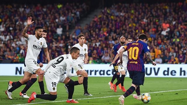 Super-Valencia: batte 2-1 il Barcellona e fa sua la Coppa del Re, gli highlights