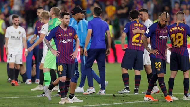 Barcelona blow Double chance as Valencia win Copa del Rey final