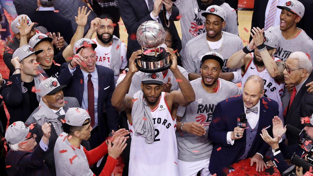 6e4ec270884c5 NBA - Toronto bat Milwaukee lors du match 6 (100-94) et s'offre sa première  finale - NBA 2018-2019 - Basketball - Eurosport