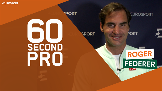 60 Second Pro: Federer reveals the secrets of the slice backhand