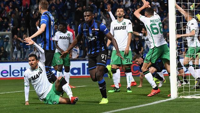 L'Atalanta è nella storia: 3-1 al Sassuolo, i nerazzurri volano in Champions League