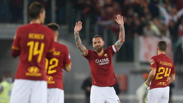Le pagelle di Roma-Parma 2-1: De Rossi dice addio, Diego Perotti match winner