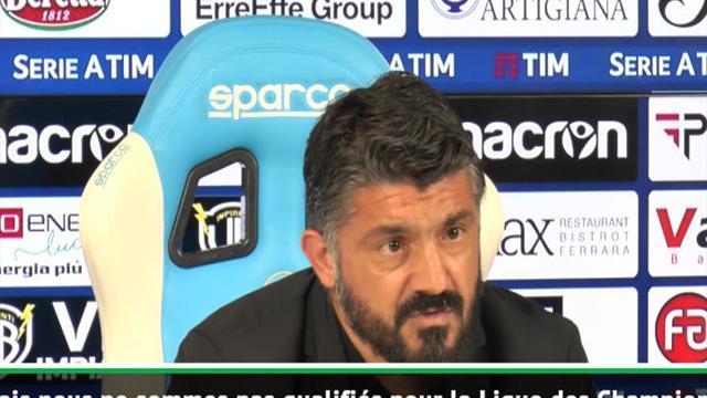 """38e j. - Gattuso : """"Il ne nous manquait qu'un point"""""""