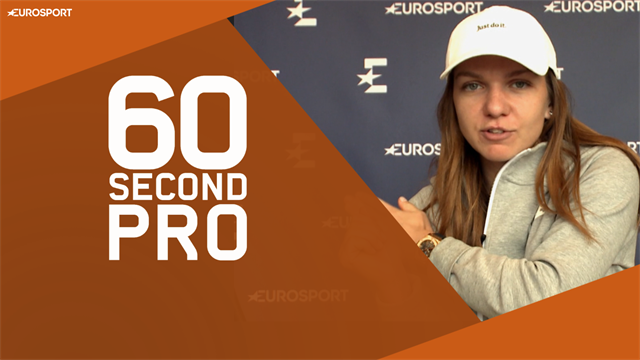 60 Second Pro: Halep reveals secrets to two-handed backhand