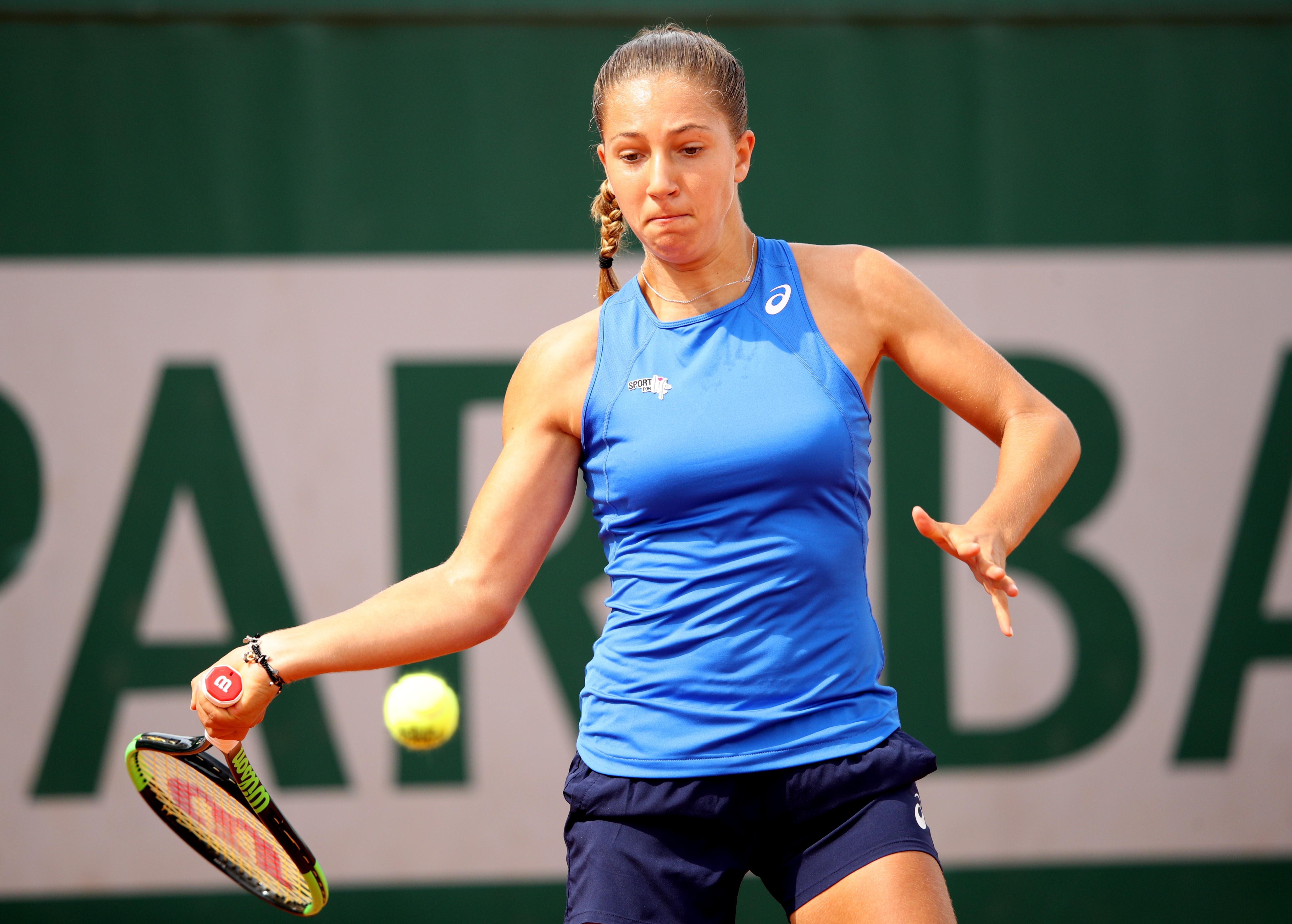 Diane Parry à Roland-Garros 2019
