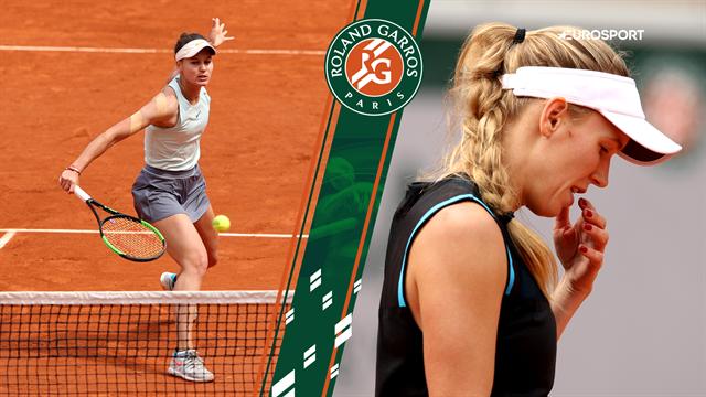 Highlights: Wozniacki led katastrofalt nederlag i første runde ved Roland Garros