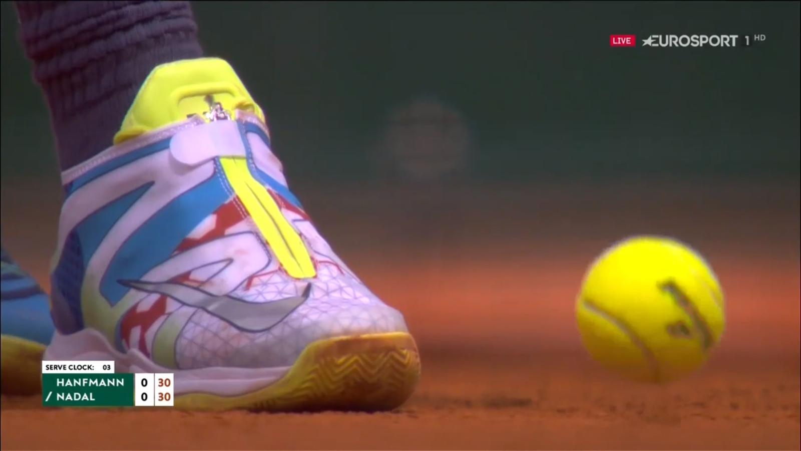 La explicación del llamativo nuevo modelo de zapatillas de Rafa Nadal en Roland Garros