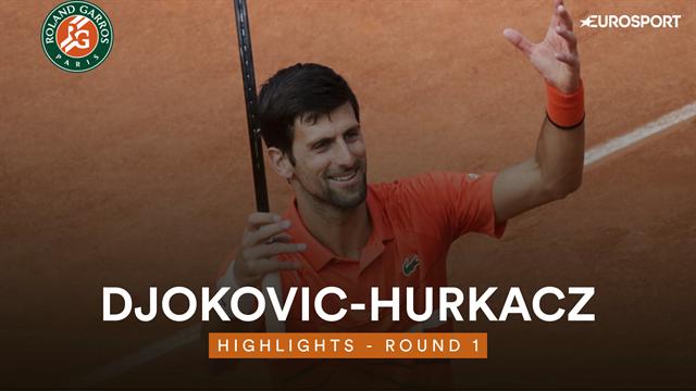 French Open 2019 – Highlights: Djokovic hurries past Hurkacz in opener