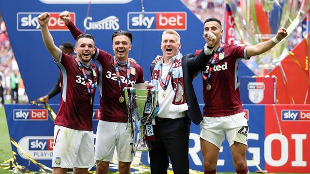 Villa edge Derby to seal Premier League return
