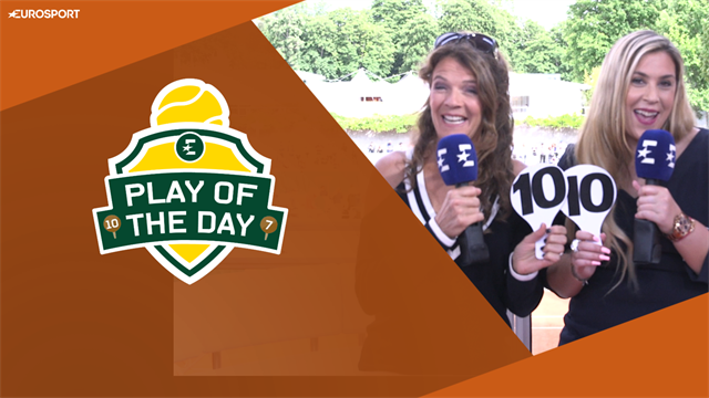 Play of the Day: Nadal hits opponent - '10 out of 10 for the smash!'