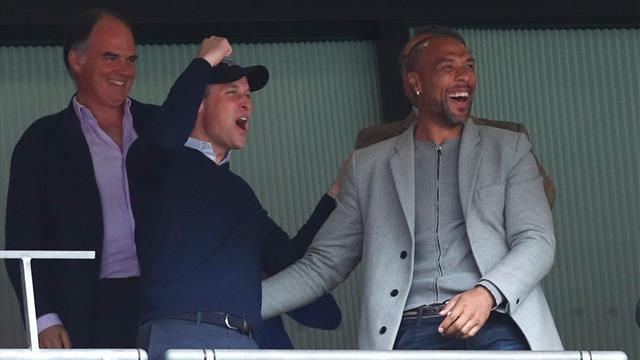 'What a bromance!' Prince William celebrates Aston Villa promotion with John Carew