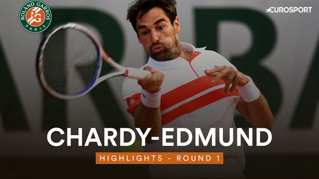 Jérémy Chardy balayé par Kyle Edmund en 10 minutes — Roland-Garros