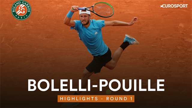 Roland Garros: Pouille-Bolelli 6-3 6-4 7-5, gli highlights