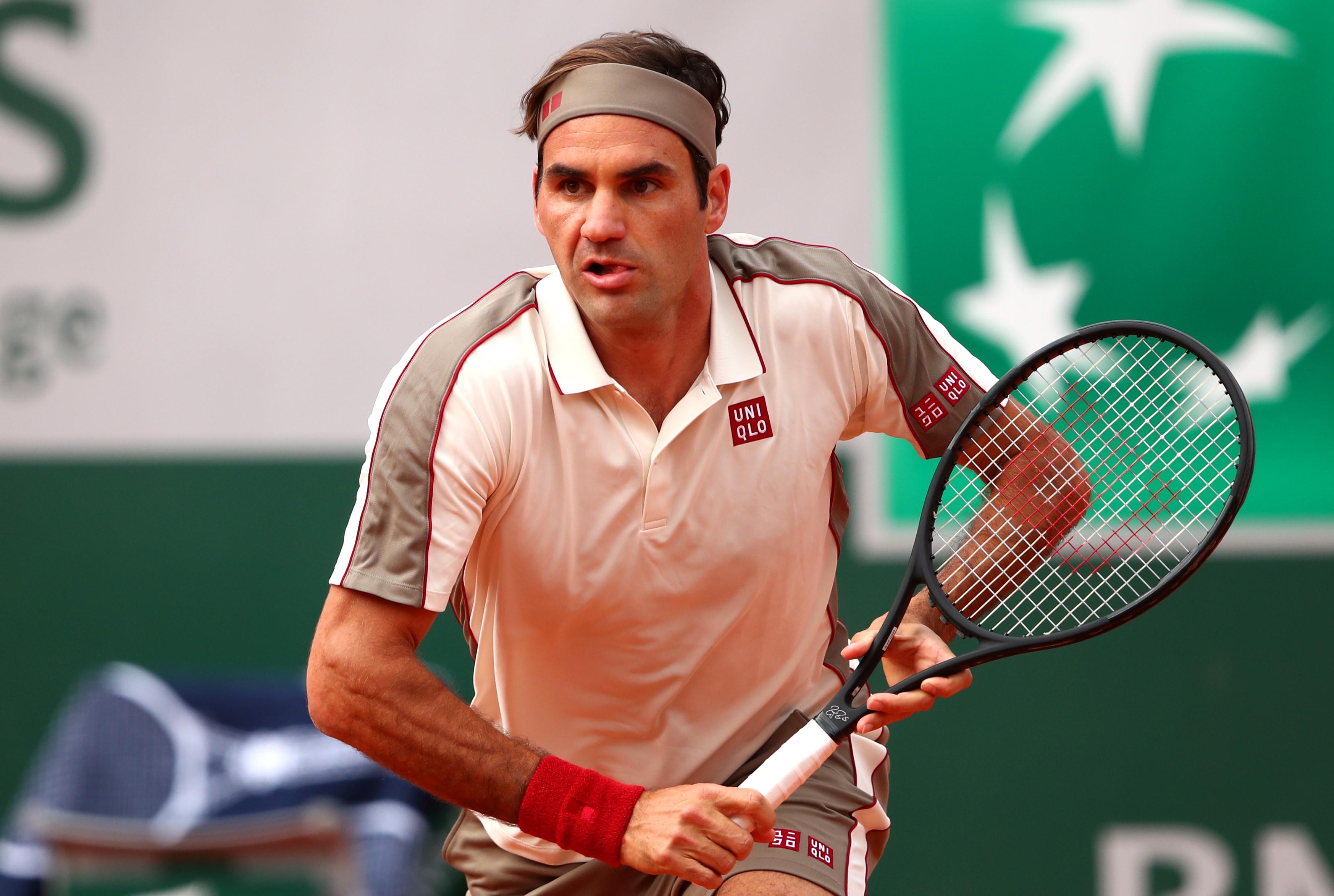Roger Federer lors de Roland-Garros 2019