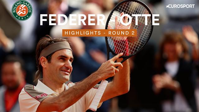 Beaucoup de contrôle, un service impérial : Federer a fait du bon boulot face à Otte