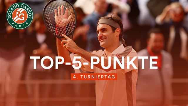 Das Beste vom Tag: Federer mit dem perfekten Stopp-Ball