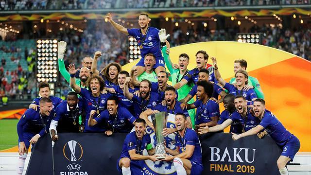 Hazard stars as Chelsea hammer Arsenal in final